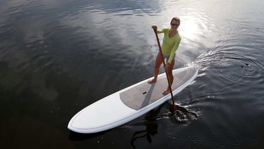 woman on paddle board